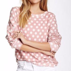 Wildfox Pink and White Polka Dot Jumper {E}